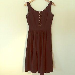 Dresses & Skirts - Vintage 1950s Black & Pale Pink Cotton Sundress